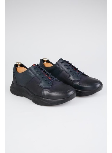 Tripy Hakiki Deri Sneakers Lacivert